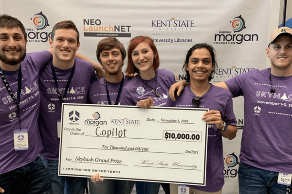 kent State team Copilot wins $10,000 SkyHack 2019 grand prize!