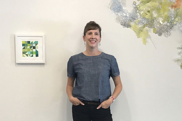 Kelly Dietrick at her new art space, Troppus Projects