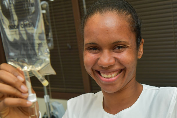 After two Category 5 hurricanes hit her home, Debra Thomas graduates with the help of the Kent State University College of Nursing Student Emergency Fund.