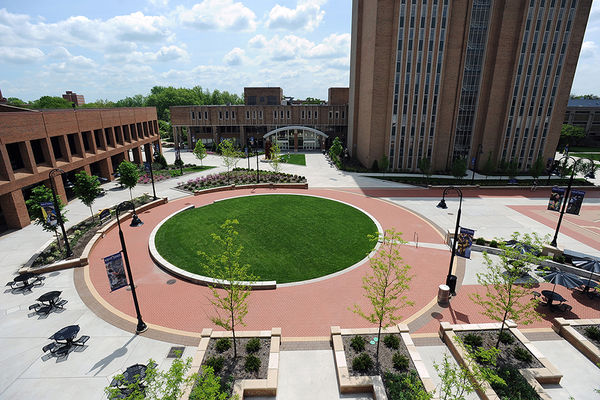 Aerial view of Risman Plaza