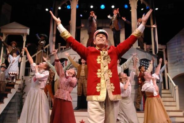 "Eric van Baars performs the role of Harold Hill in the Porthouse Theatre's production of ""The Music Man."""