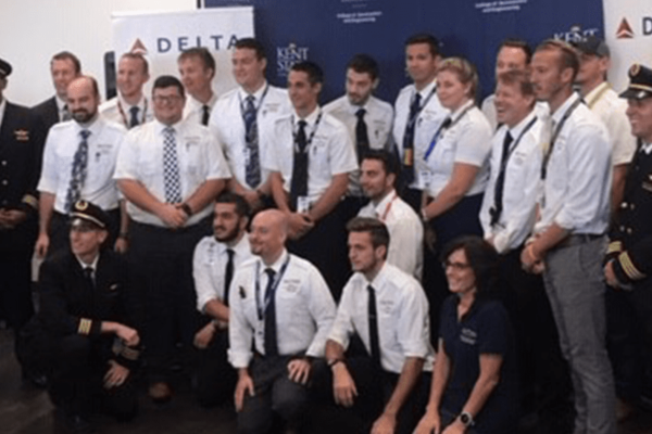 Delta Air Lines and Kent State's Flight Technology Program Unite