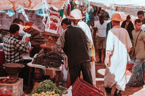 Marrakesh, Morocco market. Photo by Annie Spratt on Upsplash