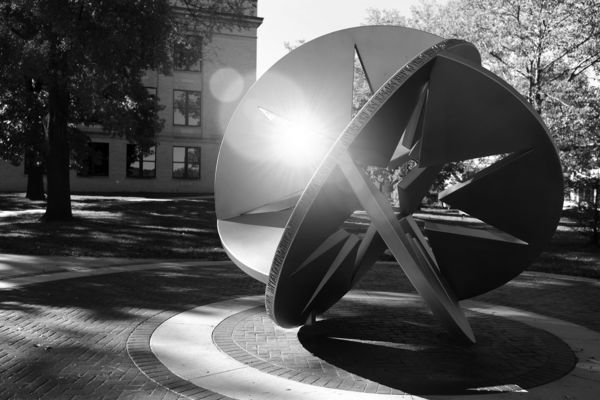 Starsphere in black and white