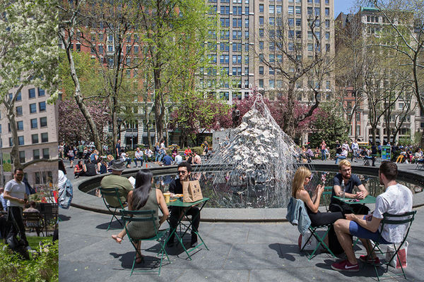 Diana Al-Hadid, Delirious Matter exhibition at Madison Square Park