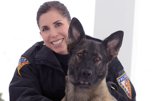 Kent State Police Officer Anne Spahr, pictured here with K-9 Coco, was recognized as one of the 2017 Crisis Intervention Team Officers of the Year by the Mental Health & Recovery Board of Portage County and the Portage County Police Chief's Association.