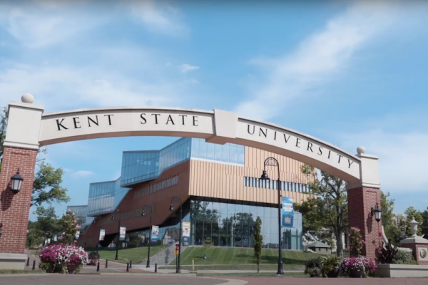 Kent State Arch by Architecture building