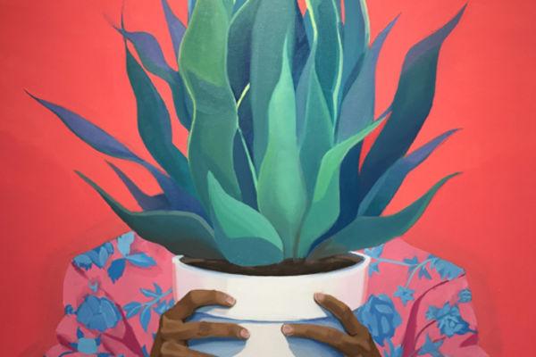 Painting by Kade Marsili titled Away, Away, Away