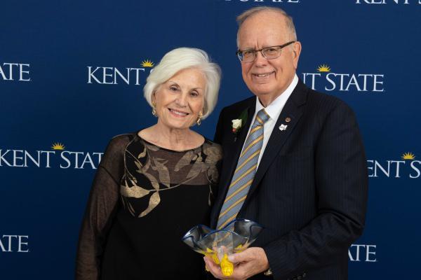 Kent State University Foundation Chair John Elliot, BArc '70, Charleston, WV, his wife, Fonda.