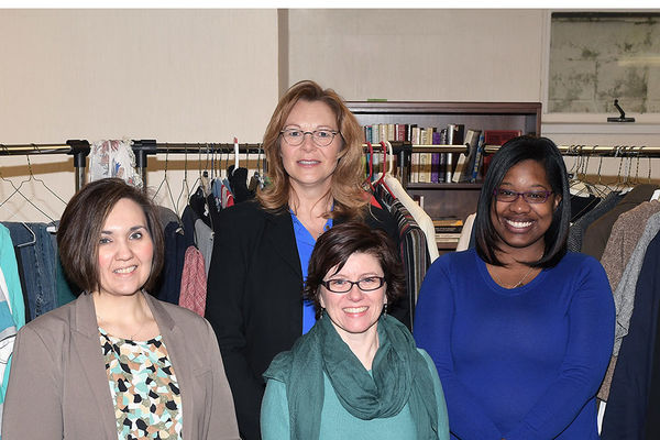 Kristin Williams, Lori Bodnar, Tabitha Martin and Alicia Robinson launched Kent State Career Closet to help provide students with professional attire for job interviews.