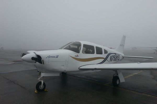photo aircraft Arrow III with fog