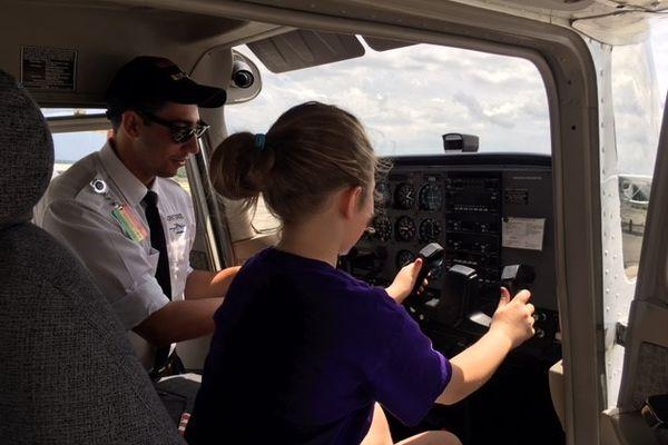 photo flight instructor Rocco Attardo explains in detail an aircraft instrument panel