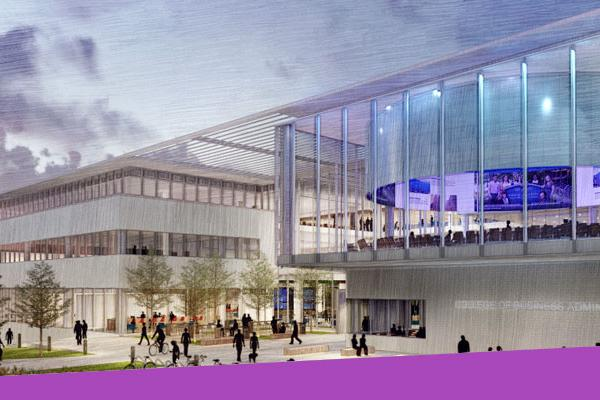 Photo of architectural rendering of new building