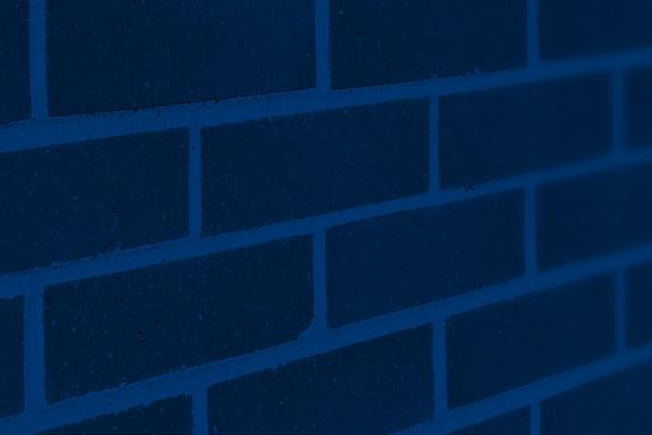 Photo of blue brick wall