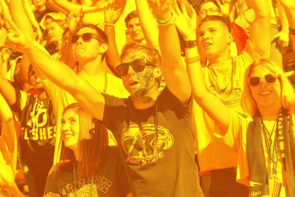 Image of KSU Students Arms Raised