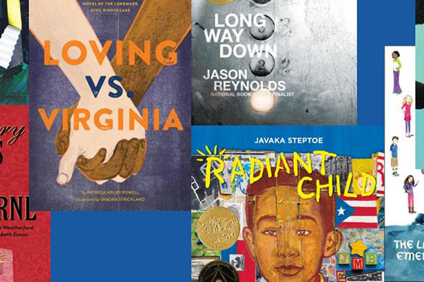 Covers of Arnold Adoff Poetry Award Winners from 2018