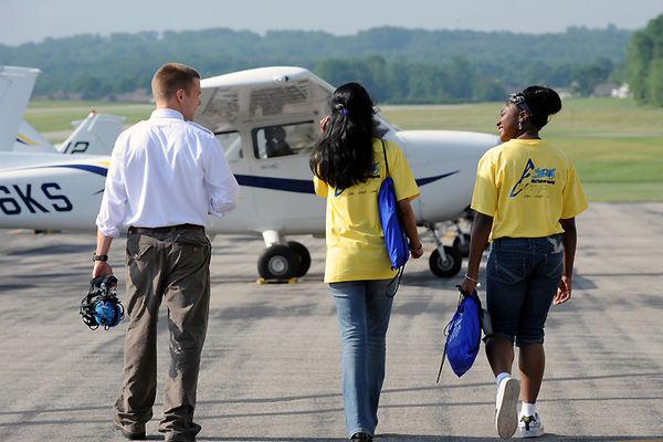 Participants in the Nikki Kukwa Memorial Aeronautics Camp