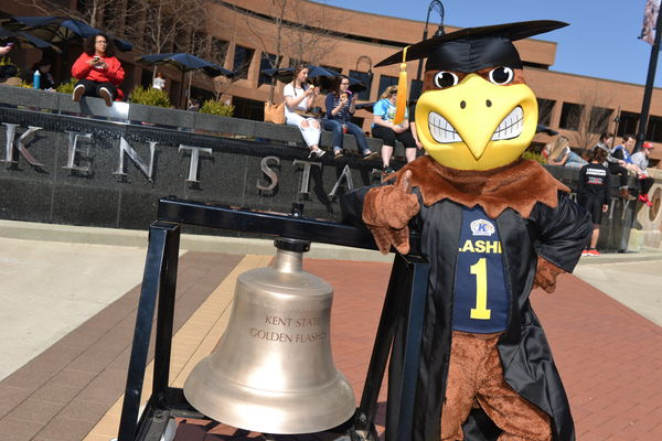 Flash and Victory Bell at Commencement