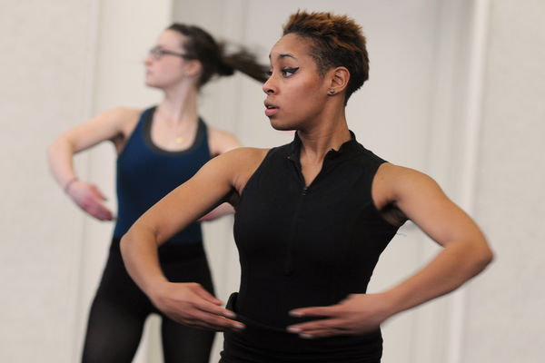Dance students train in the Roe Green Center.