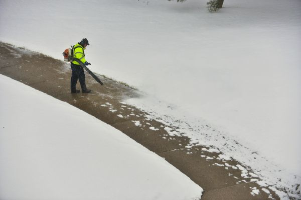 Winter scene on Kent Campus