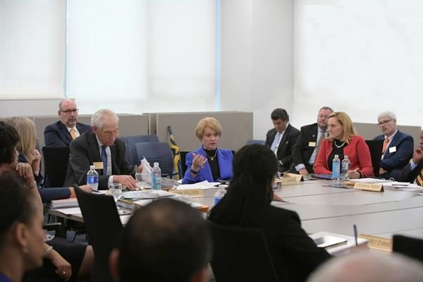 President Warren in meeting