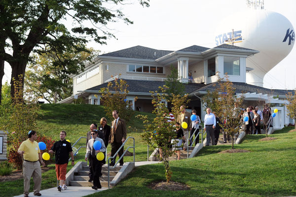 A group takes a tour of the new Hillel House near the campus of Kent State University. Hillel is a student and activity center for students of the Jewish Faith.