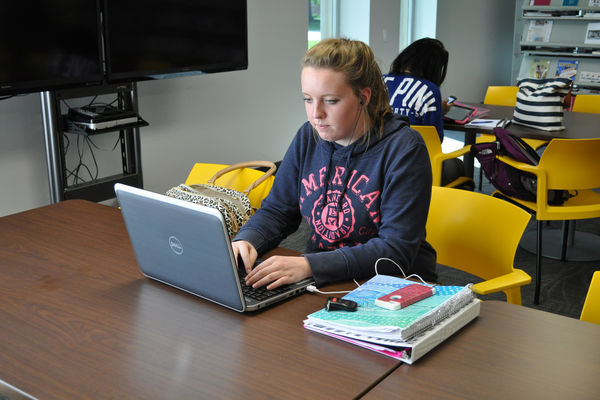 Students Enjoy Studying in the Library