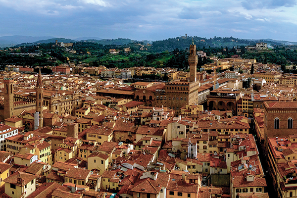 A panoramic view of Florence