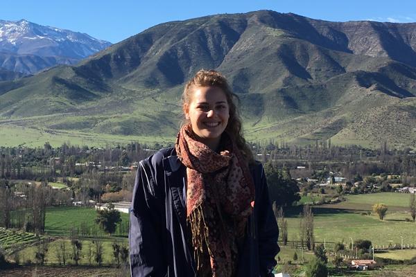 Gabrielle Neffinger on an exchange program in Chile