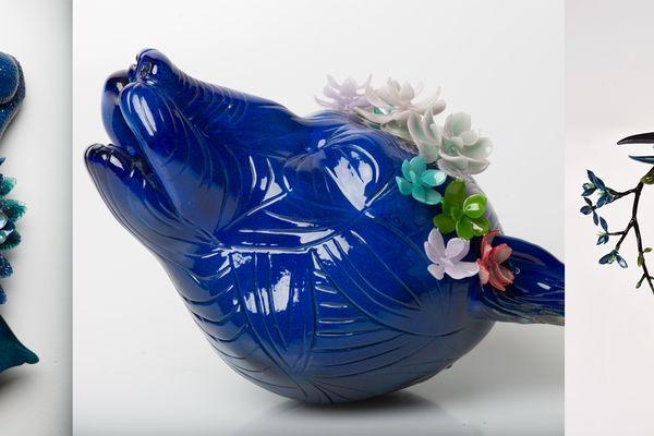 Glass artworks by Grant Garmenzy and Erin Garmezy