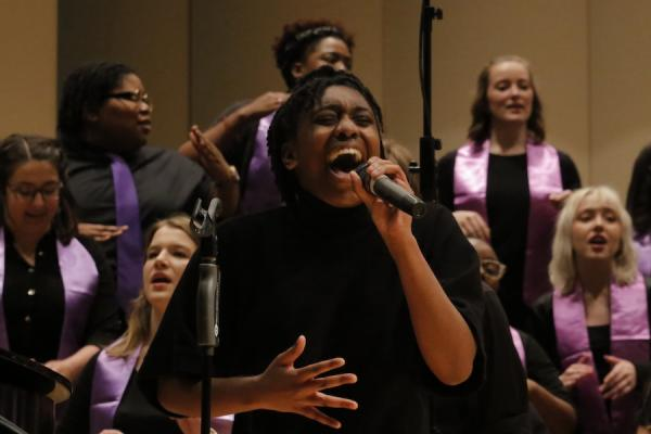 Students performing KSU Gospel Choir
