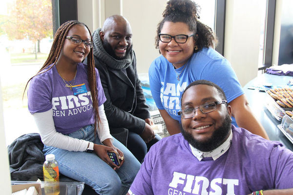 First Generation college students at the first generation celebration