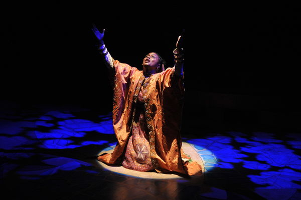 A student performs in Nathan the Wise