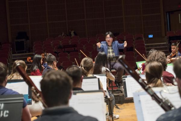 Kent State Orchestra in Rehearsal