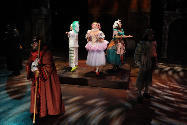 "A photo from the School of Theatre and Dance's production of ""The Servant of Two Masters"""