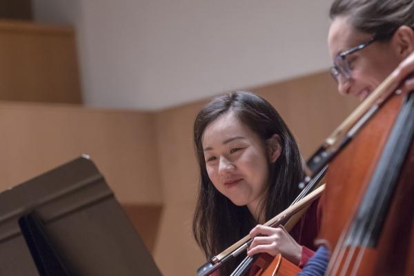 Cellists in KSU Orchestra