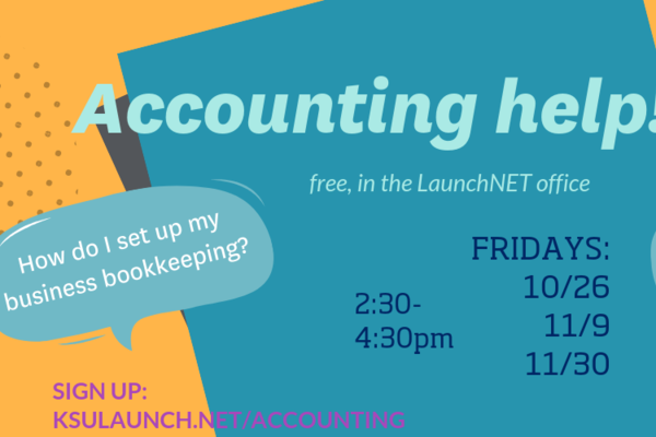 An accounting seminar service poster was developed by LaunchNET