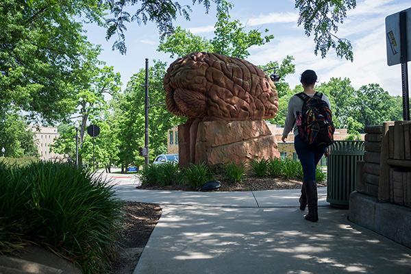 Behind the Brain Plaza