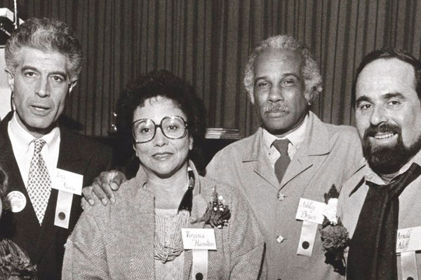 Conference founders with speaker Ashley Bryan, 1986