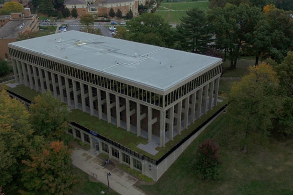 Aerial view of Taylor Hall