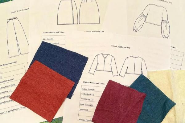 Fashion Sewing Templates and Cloth