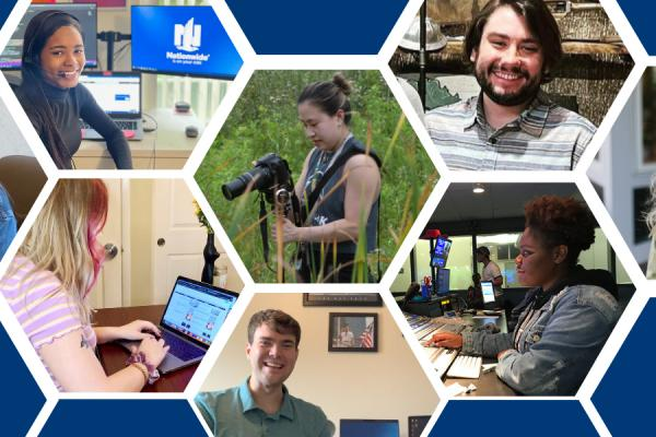 Collage of students at internships