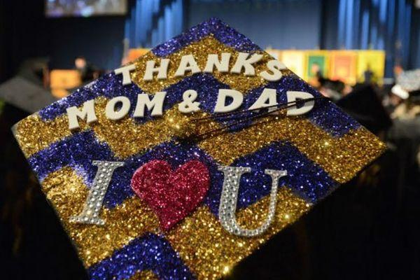 Thanks Mom and Dad mortar board