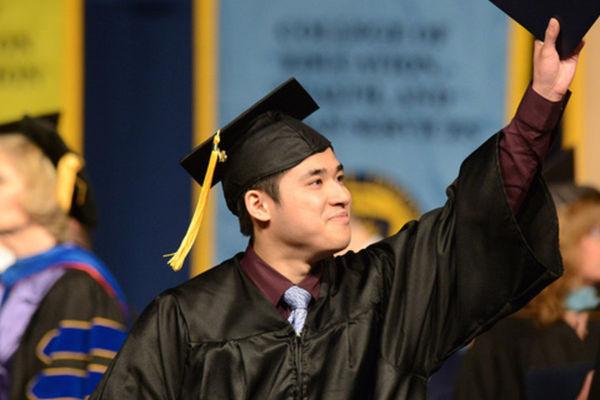 Kent Student Celebrating During Graduation