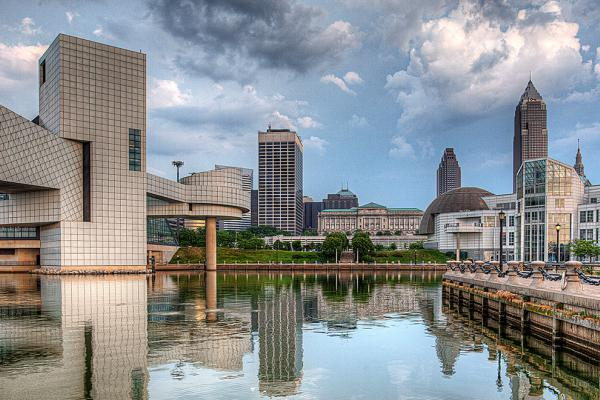 A panoramic view of downtown Cleveland