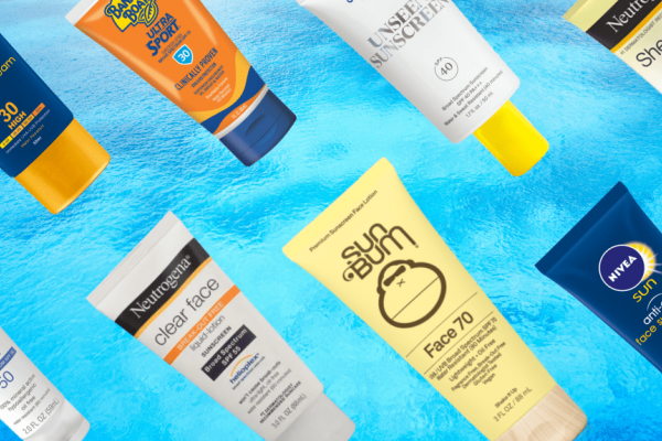 Different brands of sunscreens
