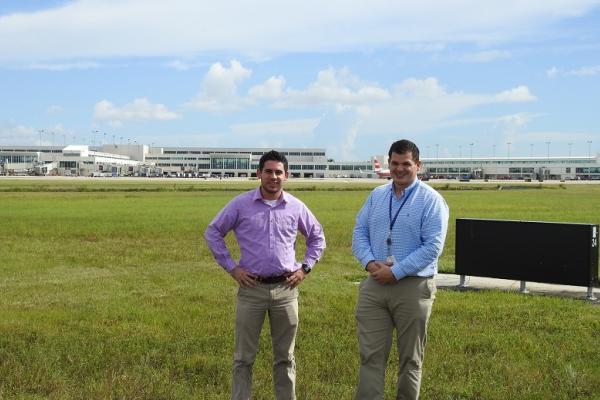 photo Aviation Management graduates Jeremy and Stephen at Ft. Myers, FL