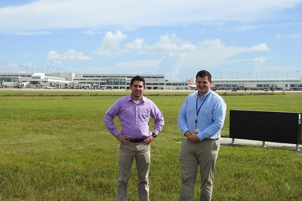 photo Aviation Management graduates Jeremy and Stephen at Ft. Myers, FL