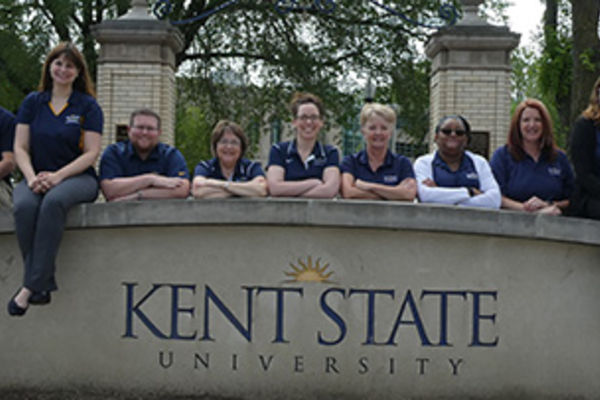 Kent State University Alumni Staff posing for a photo