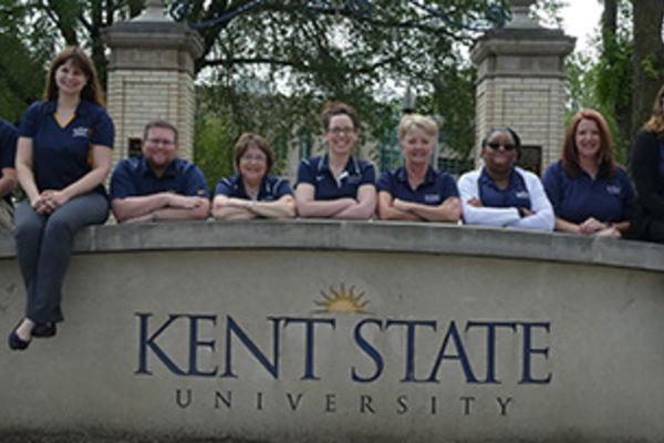 Kent State University Alumni Staff posing for a photo